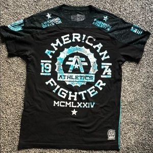 Black and blue American Fighter T-shirt